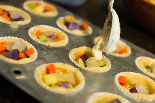 mini vegetable pot pies assembly